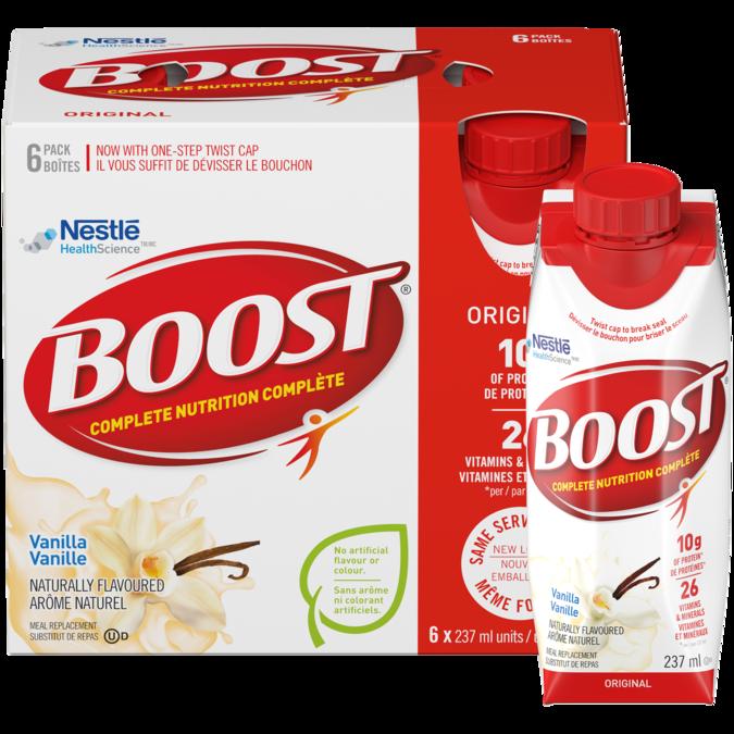 BOOST Original Vanilla Meal Replacement Drink, 6 x 237 ml
