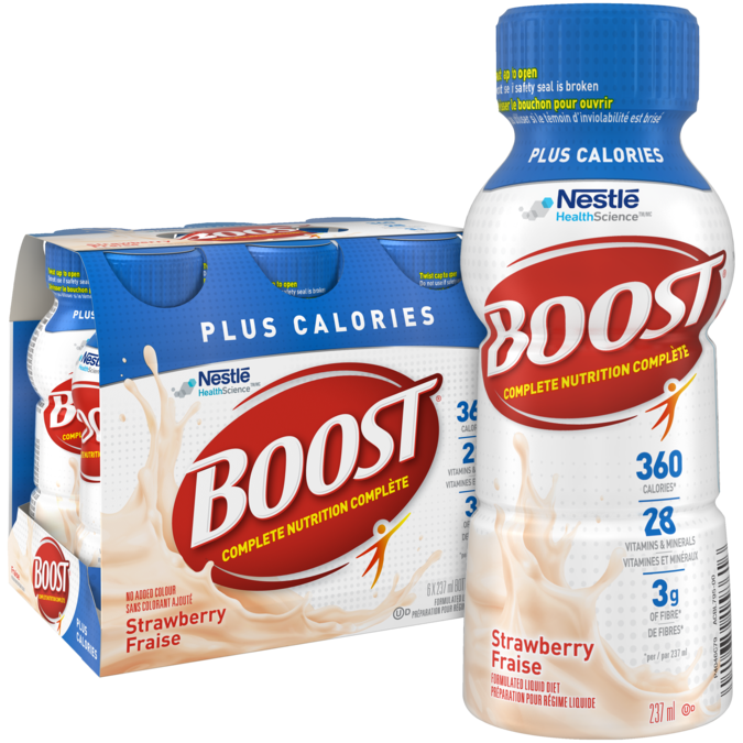 Boost Original Strawberry Bliss Complete Nutrition Drink: BOOST Plus Calories - Strawberry