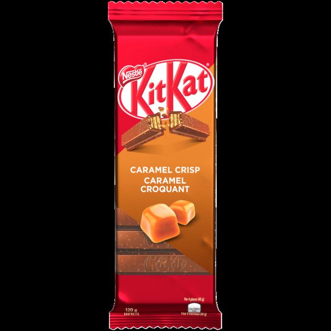 KIT KAT Chocolate Caramel Crisp, 120 grams.