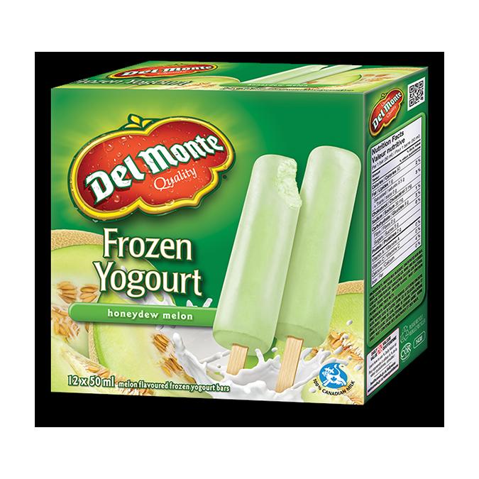 DEL MONTE Frozen Yogourt Bars, Honeydew Melon Flavour, box of 12 x 50ml