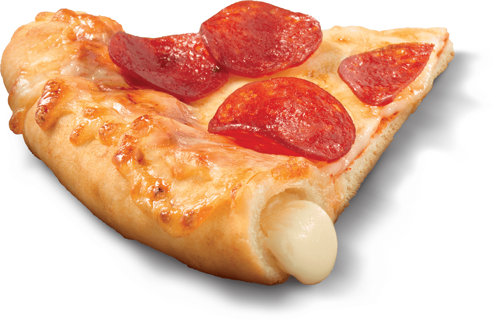 Delizzio Stuffed Crust pizza slice image