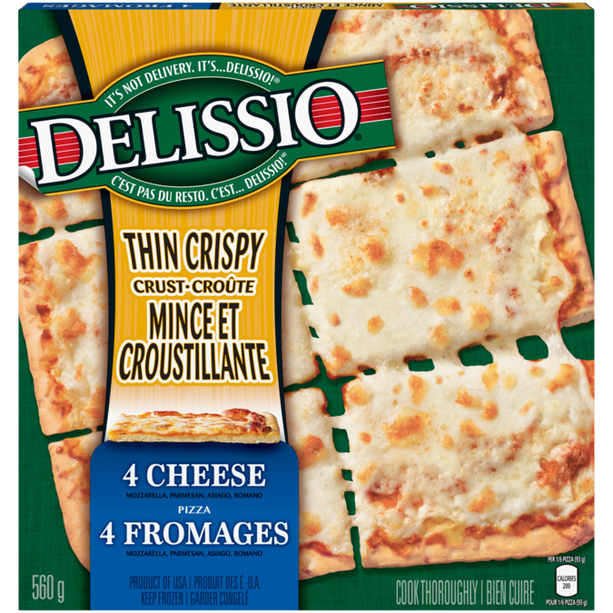 Delissio Thin Crispy Crust 4 Cheese Madewithnestle