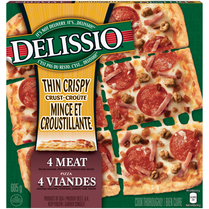 Delissio Thin Crispy Crust 4 Meat Madewithnestle