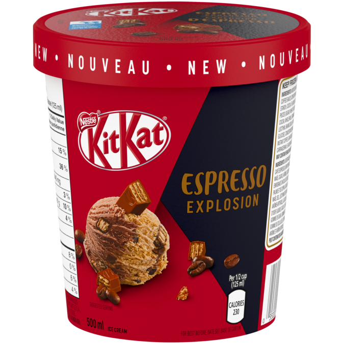 KIT KAT Espresso Explosion Ice Cream, 500 ml