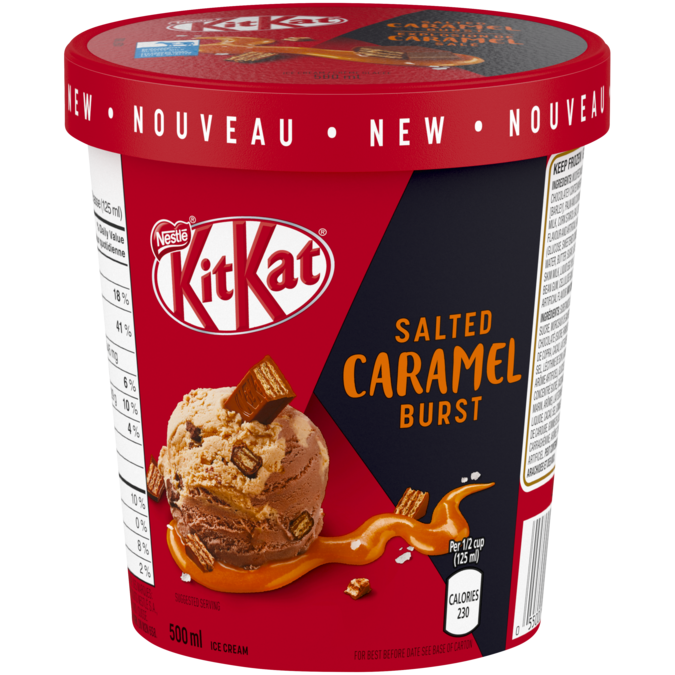 KIT KAT Salted Caramel Burst Ice Cream, 500 ml