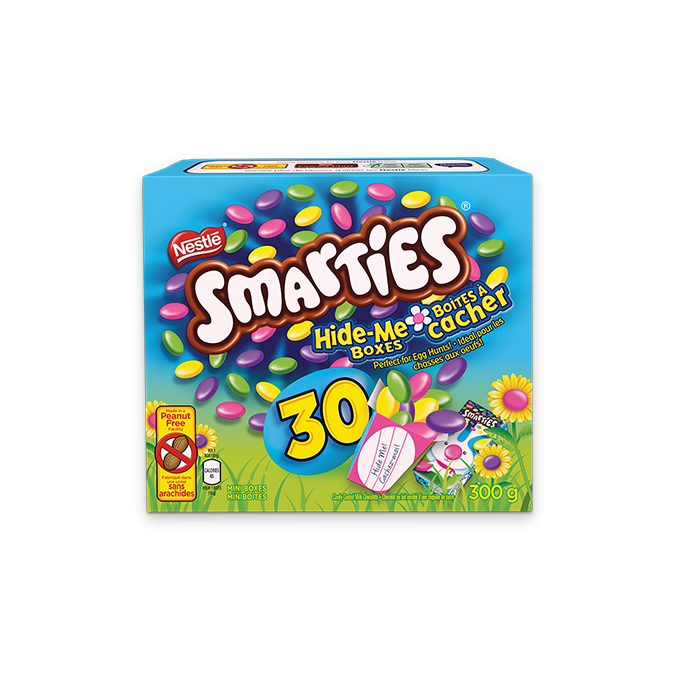 SMARTIES candy-coated milk chocolate, Hide-Me Boxes perfect for egg hunts, 300 grams.
