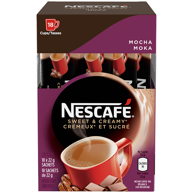 NESCAFE Sweet and Creamy Mocha Instant Coffe2 18 x 22 grams sachets