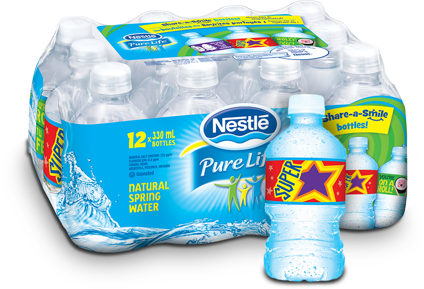 12 pack of Nestle Pure Life Share-a-smile mini bottles