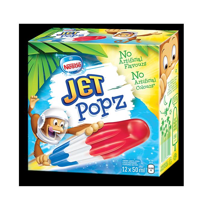 JET POPZ, Frozen Ice Pops, Multipack, 12 x 50 ml.