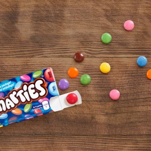 SMARTIES makes 'em last a little longer with colourful portioned treats!