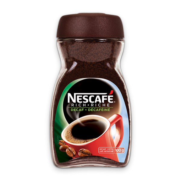 NESCAFÉ Rich Decaf Instant Coffee, 100 grams.