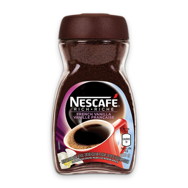 NESCAFÉ Rich French Vanilla Coffee, 100 grams.