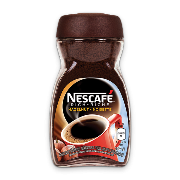 NESCAFE Rich Hazelnut Coffee, 150 grams.