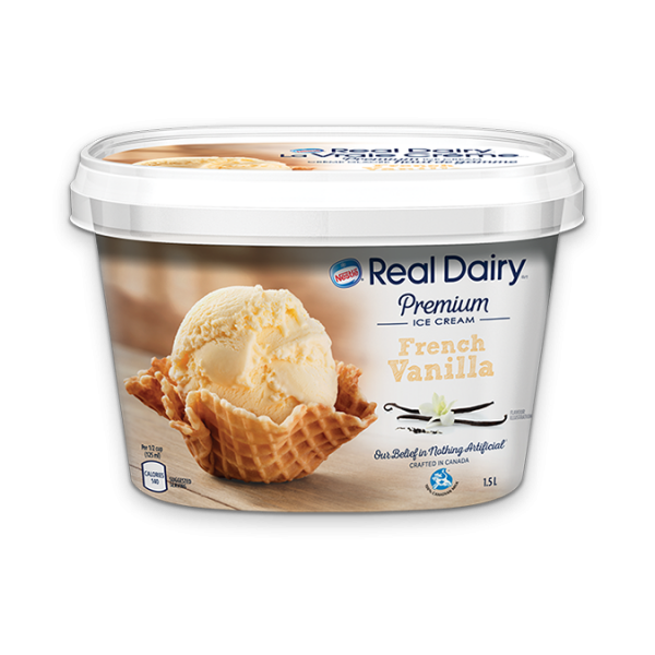 REAL DAIRY French Vanilla Ice Cream, 1.5 Litre.