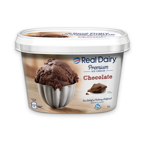 REAL DAIRY Chocolate Ice Cream, 1.5 Litre.
