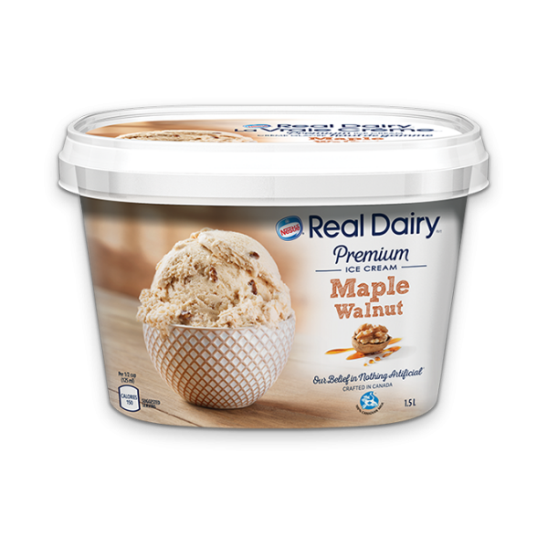REAL DAIRY Maple Walnut Ice Cream, 1.5 Litre.