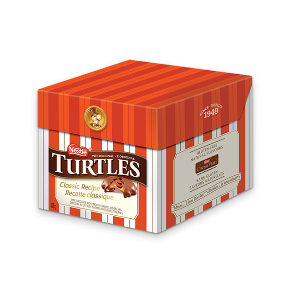 TURTLES Classic Recipe Chocolate, 85 grams.