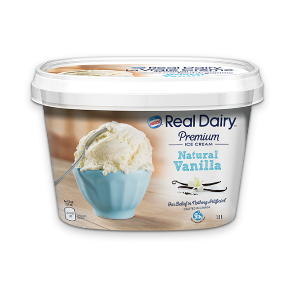 REAL DAIRY Premium Natural Vanilla Ice Cream, 1.5 Litres.