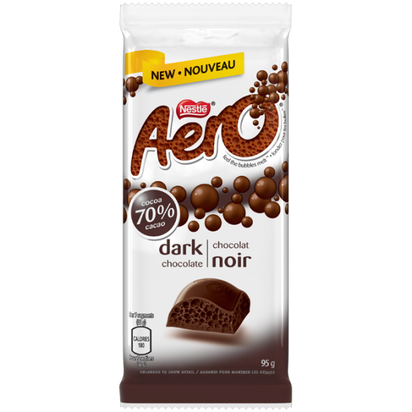 AERO 70% Dark Chocolate Big Bubble Bar 85 grams