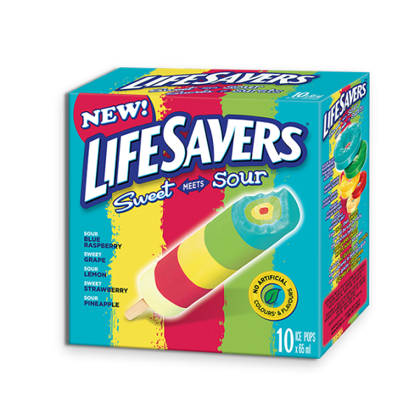 LIFESAVERS Sweet Meets Sour Pops, 10 x 65 ml portions.