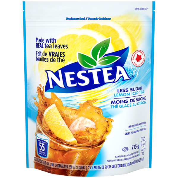 NESTEA Lemon Iced Tea Powder Mix, less sugar 715 grams