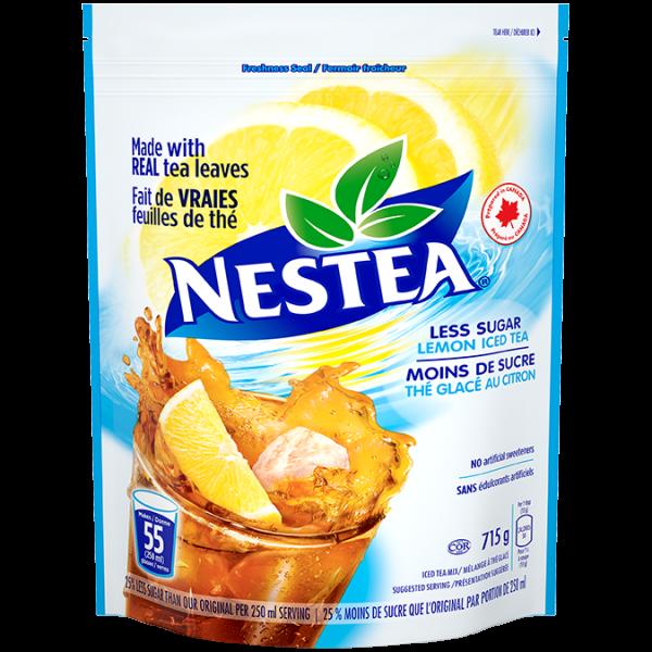 NESTEA Mélange de poudre de thé glacé au citron, moins de sucre 715 grammes