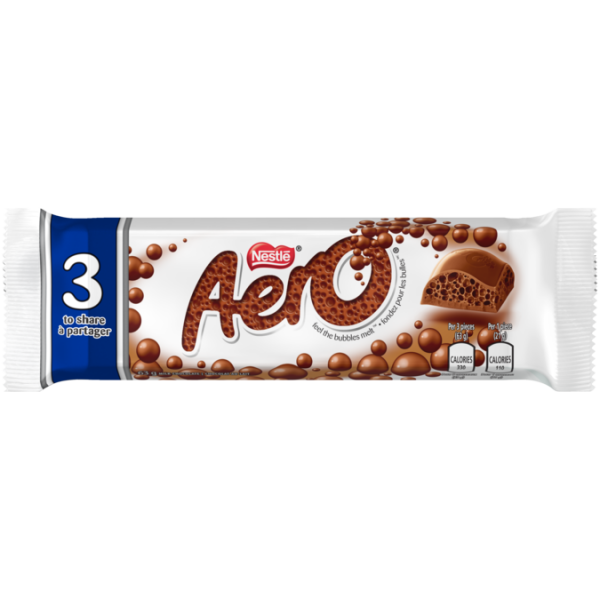 AERO 3 Pieces to Share chocolate bar, 63 grams.