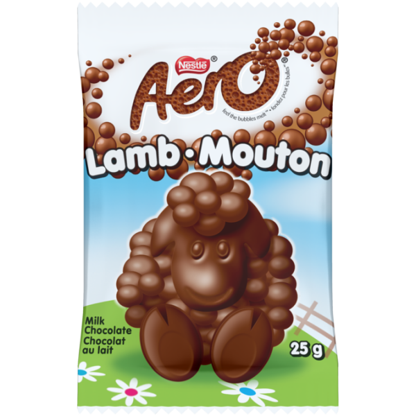 AERO Lamb Shaped Milk Chocolate Bar, 25 grams.