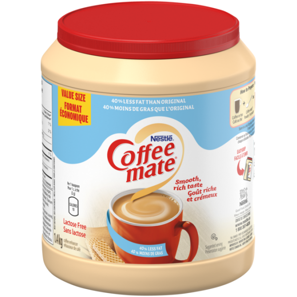 COFFEE-MATE 50% Less Fat, 1.4 kg.