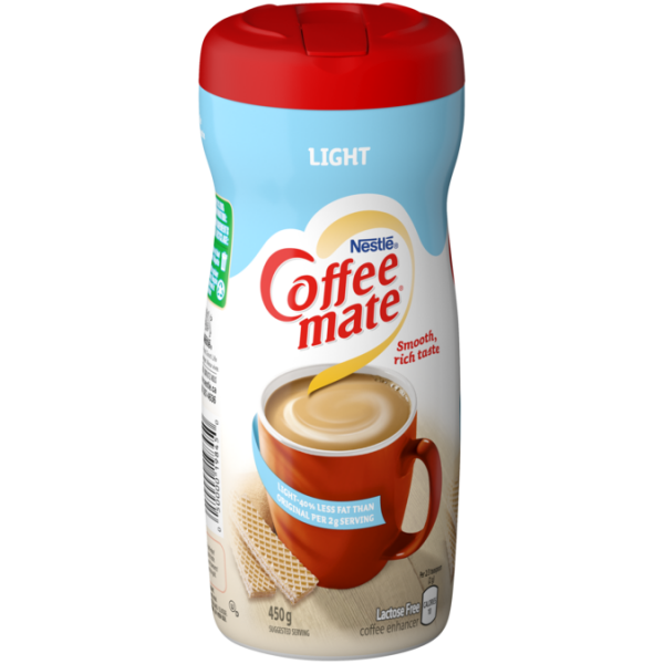 COFFEE-MATE Light, 50% Less Fat, 450 grams.