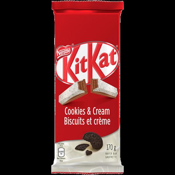 KIT KAT Cookies & Cream Chocolate Bar, 170 grammes.
