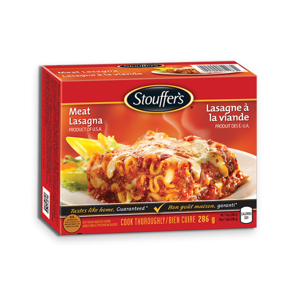 STOUFFER'S Meat Lasagna, 286 grams.