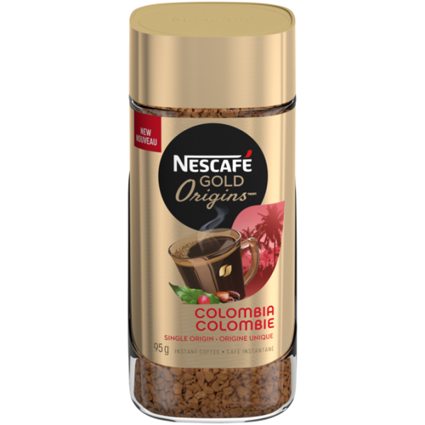 NESCAFÉ GOLD ORIGINS Colombia Coffee, 95 grams.