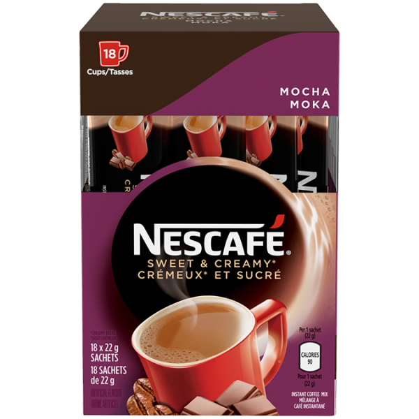 NESCAFE Sweet and Creamy Mocha Instant Coffe2 18 x 22 grams sachets