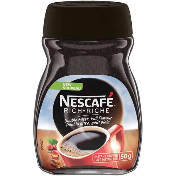 NESCAFÉ Rich Instant Coffee, 50 grams.