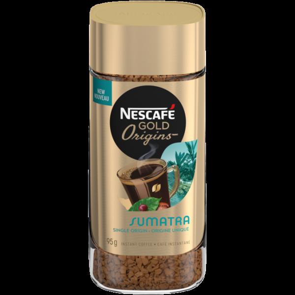 Café instantané NESCAFE GOLD ORIGINS Sumatra, 95 grammes.