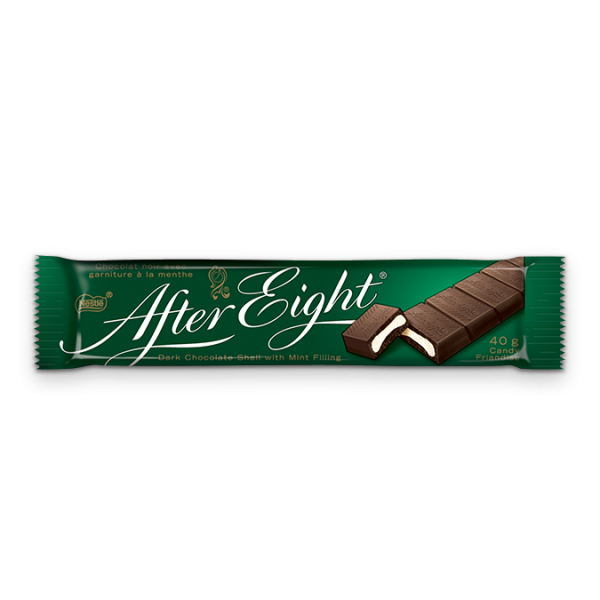 AFTER EIGHT Dark Chocolate Shell with Mint FIlling, 40 grams.