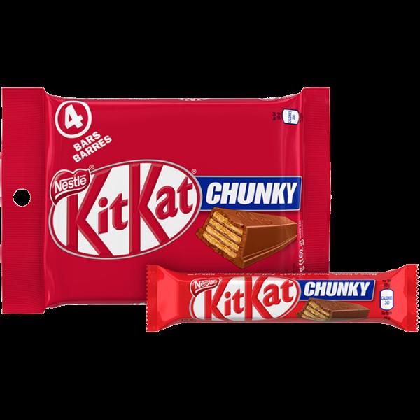 KIT KAT Chunky Milk Chocolate, 4-bar multpack, 4 x 40 grams.