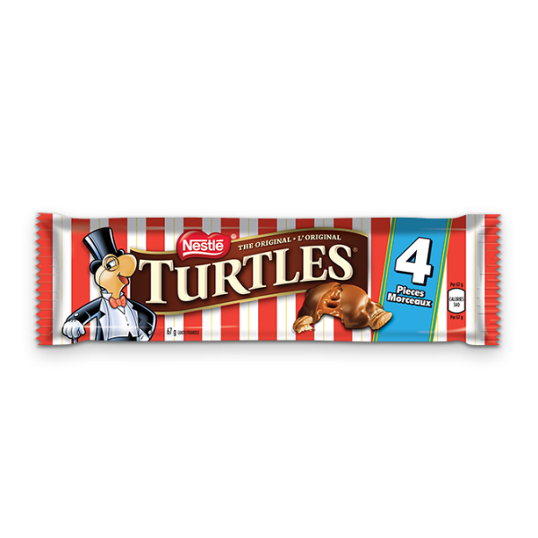 TURTLES 4-piece chocolate bar, 67 grams.
