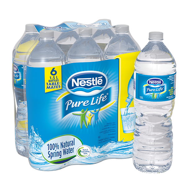 Nestlé® Pure Life® Natural Spring Water 330 ml PET Bottles (Pack of