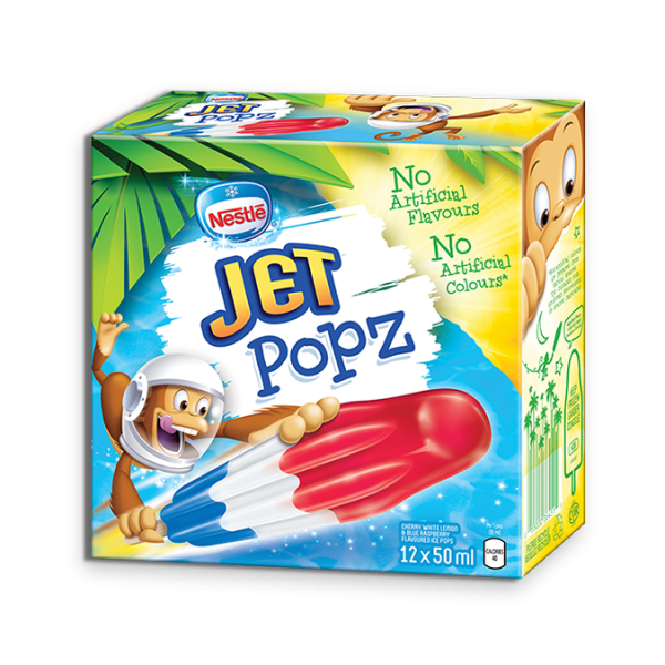 JET POPZ, Frozen Ice Pops, Multipack, 12 x 50 ml.
