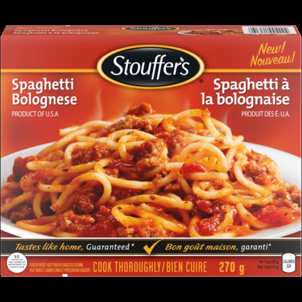 STOUFFER'S Spaghetti Bolognese, 270 grams.