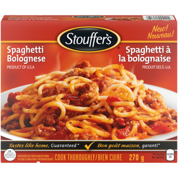 Spaghetti bolognaise STOUFFER'S, 270 grammes.