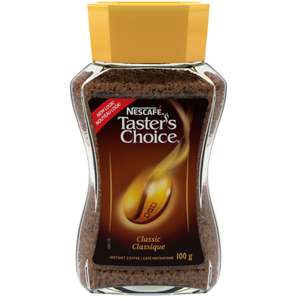 NESCAFÉ Taster's Choice Classic Instant Coffee, 100 grams.