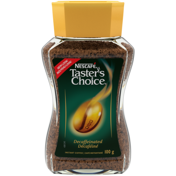 NESCAFÉ Taster's Choice Decaf Coffee, 100 grams.