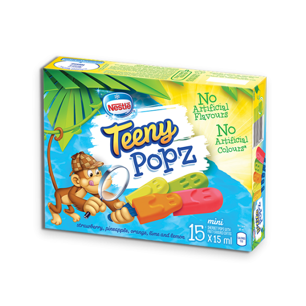 TEENY POPZ, Frozen Ice Pops, Multipack, 15 x 15 ml