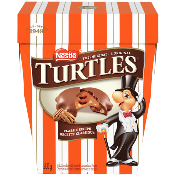 TURTLES Classic Recipe, 200 grams.