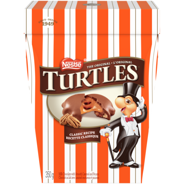 TURTLES Classic Recipe Chocolates, 350 grams.