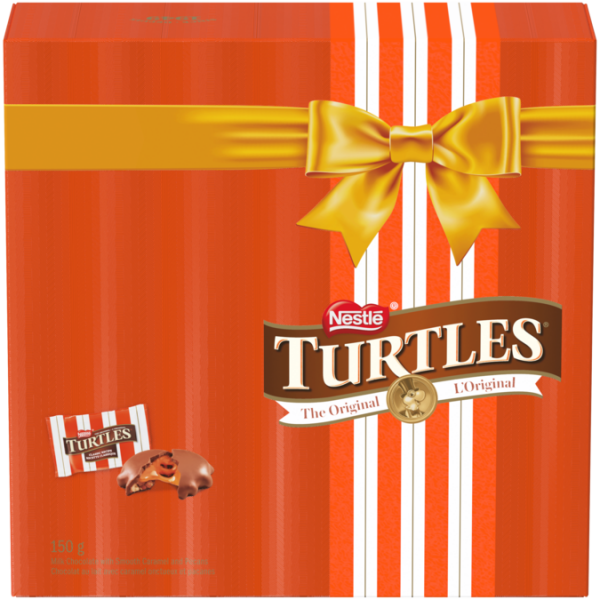 TURTLES Classic Chocolate Recipe Holiday Gift Box, 150 grams.