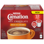 CARNATION Rich Hot Chocolate Pods Pack of 12